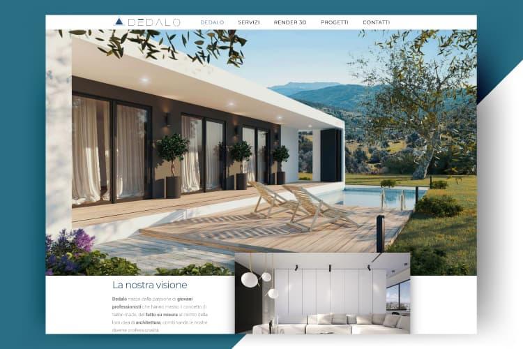 Sito web Dedalo Design Architettura Sassari